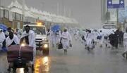 بارش شدید باران در منا و عرفات زائران را غافلگیر کرد