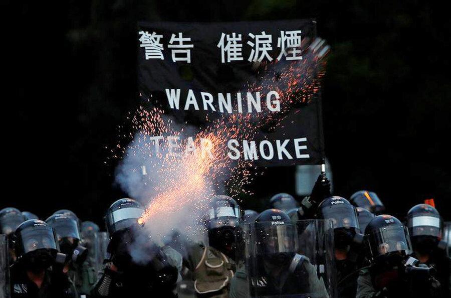 هنگ کنک | گازهای اشکآور