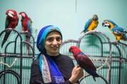 عکس روز: مربی طوطی