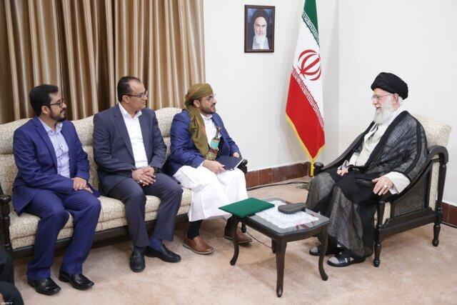 دیدار جنبش انصارالله یمن با رهبری