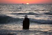 عکس روز: زن فلسطینی در ساحل
