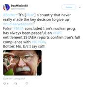 بولتون دروغ میگوید