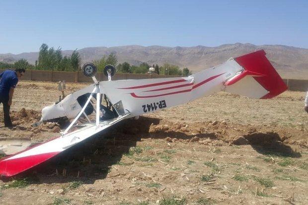 سقوط یک هواپیمای آموزشی در گرمسار/ دو سرنشین جان باختند