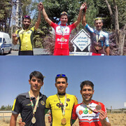 موسیزاده و جمشیدیان برترینهای لیگ دوچرخهسواری جاده شدند