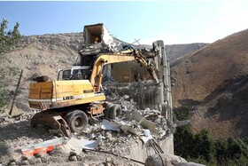 تخریب بنای غیرمجاز در حریم منطقه یک