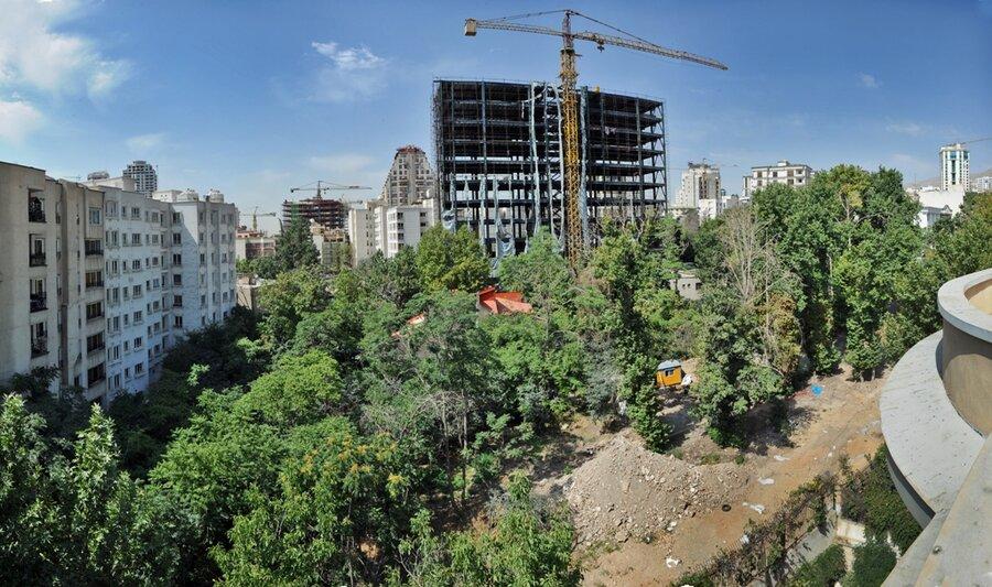 تخریب باغ ها در اثر ساخت و ساز