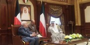 دیدار ظریف و ولیعهد کویت | ما و شما در این منطقه ماندنی هستیم و بیگانگان رفتنیاند