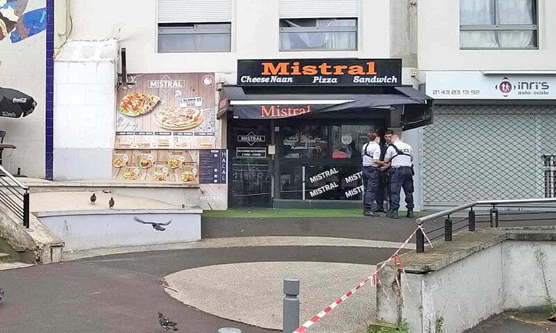 قتل پيشخدمت رستوران در پاريس