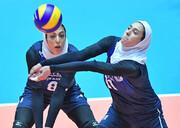 والیبال بانوان آسیا؛ دو شکست برای تیم ایران
