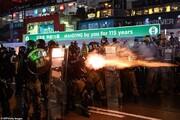 تیراندازی به معترضان هنگکنگی در سالروز انقلاب چین