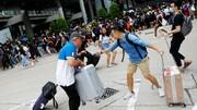 هنگکنگ  | تجمع معترضان در مقابل فرودگاه