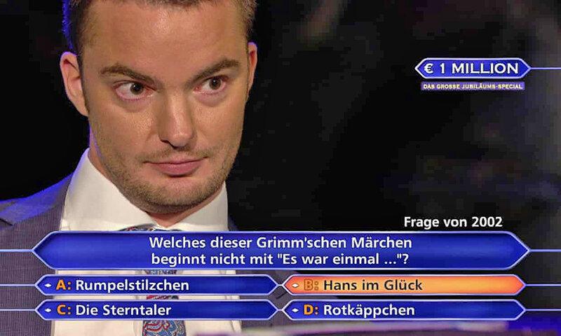 برنده جايزه برنامه ميليونر شو در آلمان