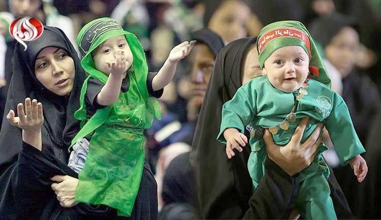 قصه گهواره شکسته در گوش شیرخوارگان حسینی