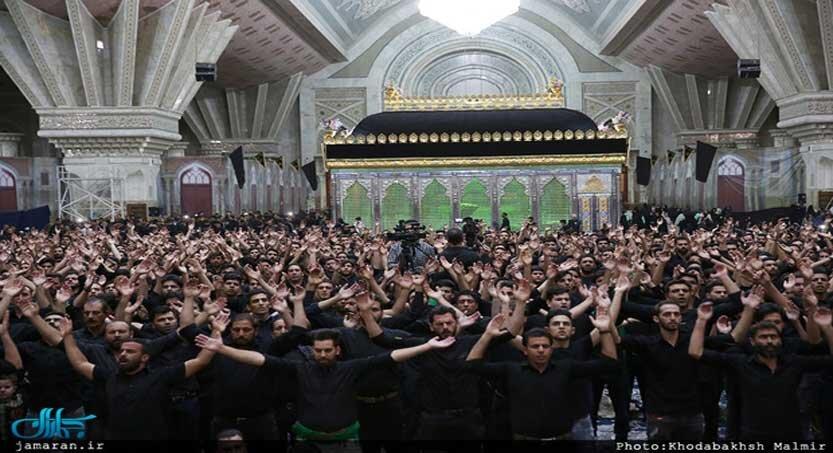 عزاداري امام حسين در حرم مطهر 833