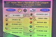 جام باشگاههای هندبال آسیا قرعهکشی شد
