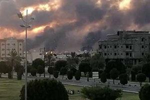 حمله پهپادي يمن به تاسيسات نفتي سعودي