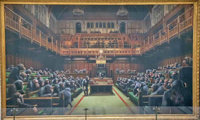 نقاشي بنكسي از مجلس عوام