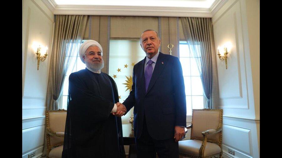 ديدار روحاني با اردوغان