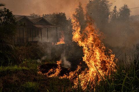 آتش و دود از جنگلها تا شهرهای اندونزی