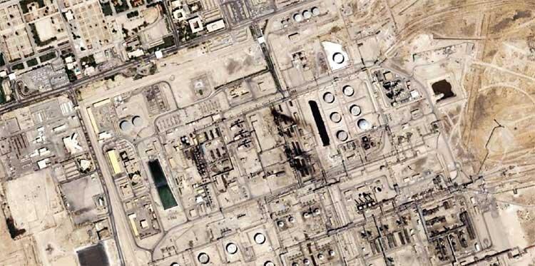 حمله به پلايشگاه نفتي عربستان