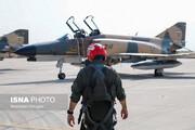 تمرین رژه مشترک هوایی تیزپروازان نیروی هوایی ارتش و هوافضای سپاه