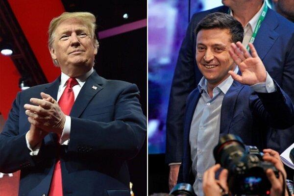 ولادیمیر زلنسکی و دونالد ترامپ
