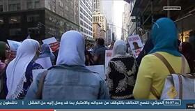 تظاهرات در برابر محل اقامت السیسی در آمریکا