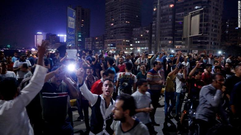 اعتراضات عليه السيسي در مصر