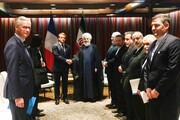 انتقاد روحانی از بیانیه مشترک اروپایی در دیدار با مکرون