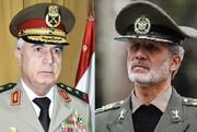 تاکید وزرای دفاع ایران و سوریه بر گسترش همکاری های دفاعی