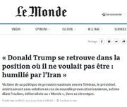 لوموند: ایران ترامپ را در خلیج فارس تحقیر کرده است