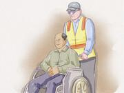 نکته بهداشتی: حرکت دادن صندلی چرخدار
