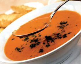 سوپ گوجهفرنگی و فلفل