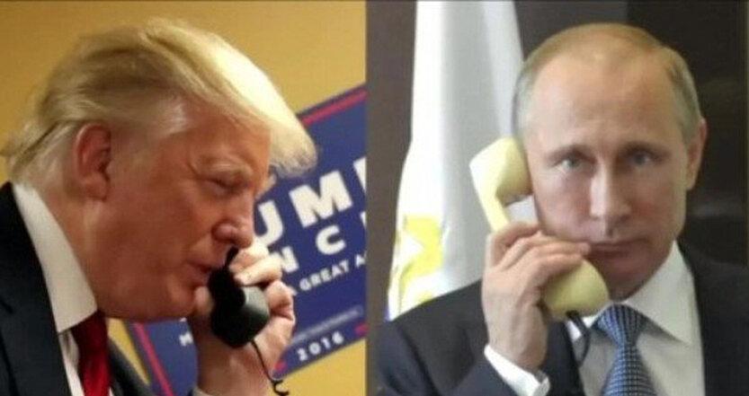 پوتين ترامپ تلفن