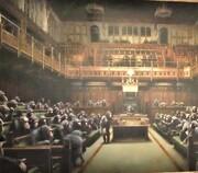 فیلم | تابلوی مزین به میمون پارلمان انگلیس رکورد شکست