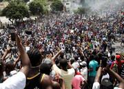 تظاهرات گسترده مردم هائیتی در پایتخت این کشور