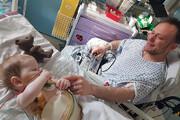 پدری ۲۰ درصد کبدش را به کودکش اهدا کرد