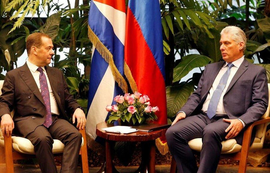 ديدار نخست وزير روسيه از كوبا