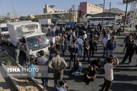 تصوير|تجمع کارگران آذراب « اراک»
