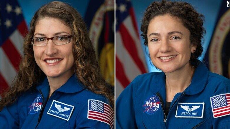 زنان فضانورد عازم اولين راهپيمايي فضايي
