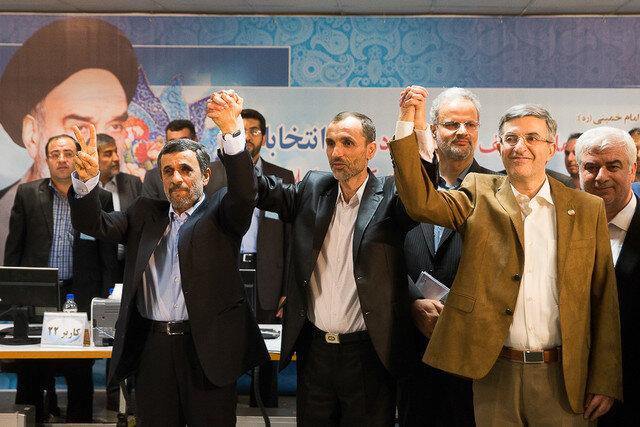 احمدی نژاد - بقایی - مشایی