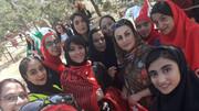 فیلم | حضور زنان پشت درهای آزادی ساعاتی قبل از بازی ایران و کامبوج
