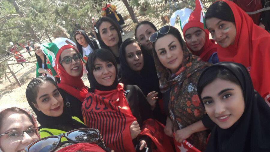 زنان در ورزشگاه آزادی - بانوان در ورزشگاه آزادی