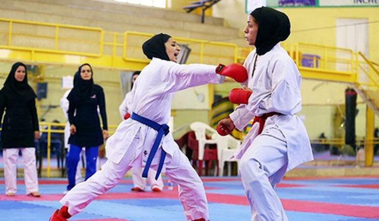 مسابقات کاراته بانوان در سنندج