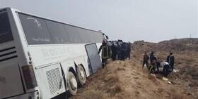 ۱۰ مصدوم در خروج اتوبوسزائران پاکستانی از جاده دامغان-سمنان