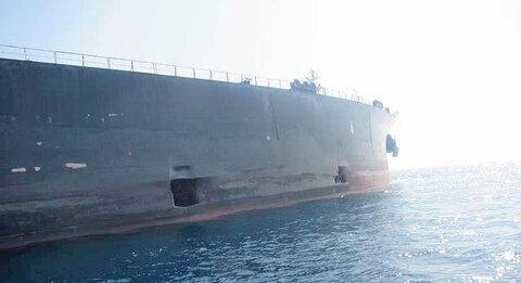 عکس های جدید از محل اصابت موشک به نفتکش ایرانی سابیتی در دریای سرخ