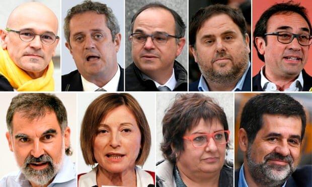 ۹ رهبر جداییطلب کاتالونیا