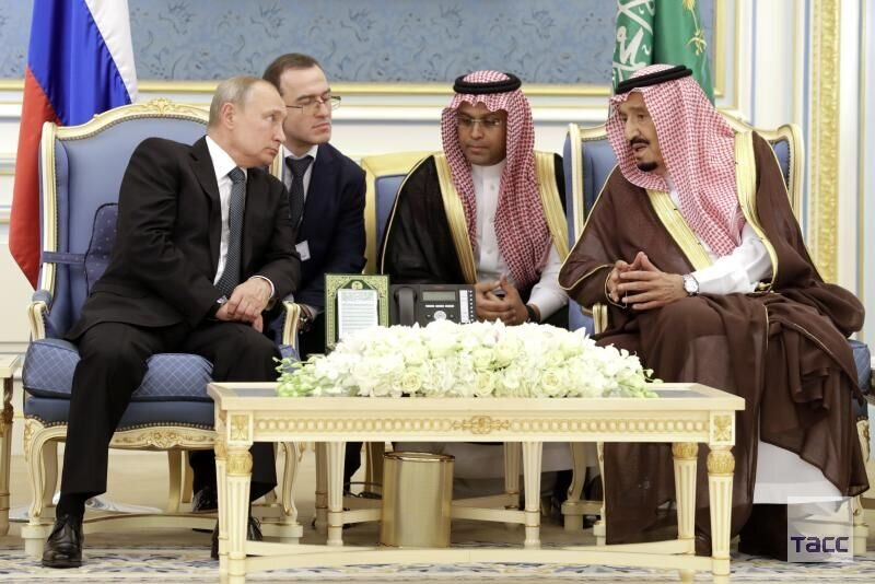 ديدار پوتين و پادشاه عربستان