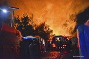 نا آرامی و آتشافروزی در کمپ پناهجویان در جزیره ساموس یونان