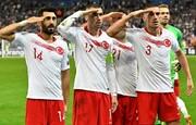 جنجال «سلام نظامی» بازیکنان تیم ملی ترکیه
